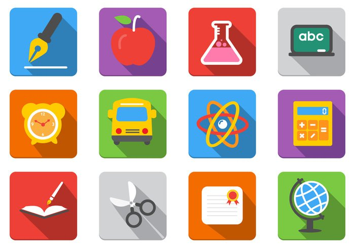16 Education Icons PSD Images