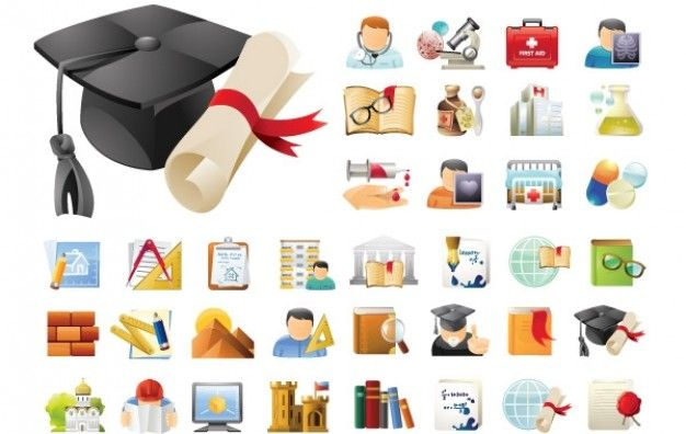 Education Icons Free Download