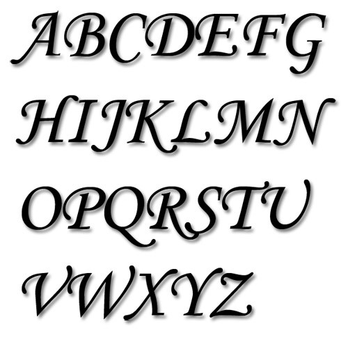 Embroidery Alphabet Fonts