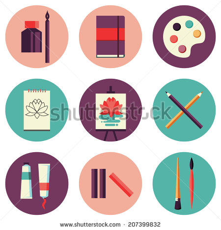 Flat Tools Vector Art Illustration