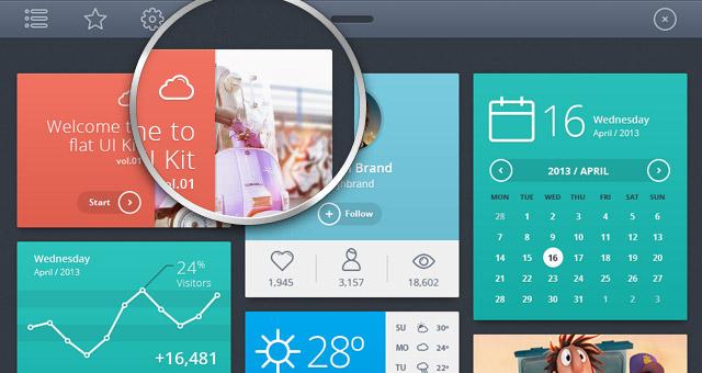 Flat UI Design Template