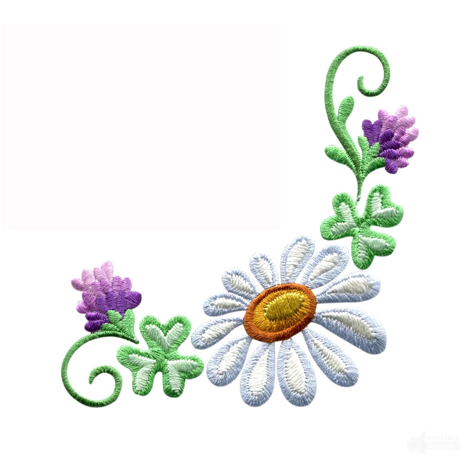 Floral border design images clip art