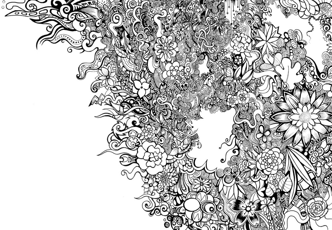 Floral Patterns Black and White