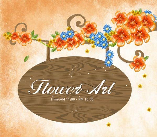 Flowers Bulletin Board Design