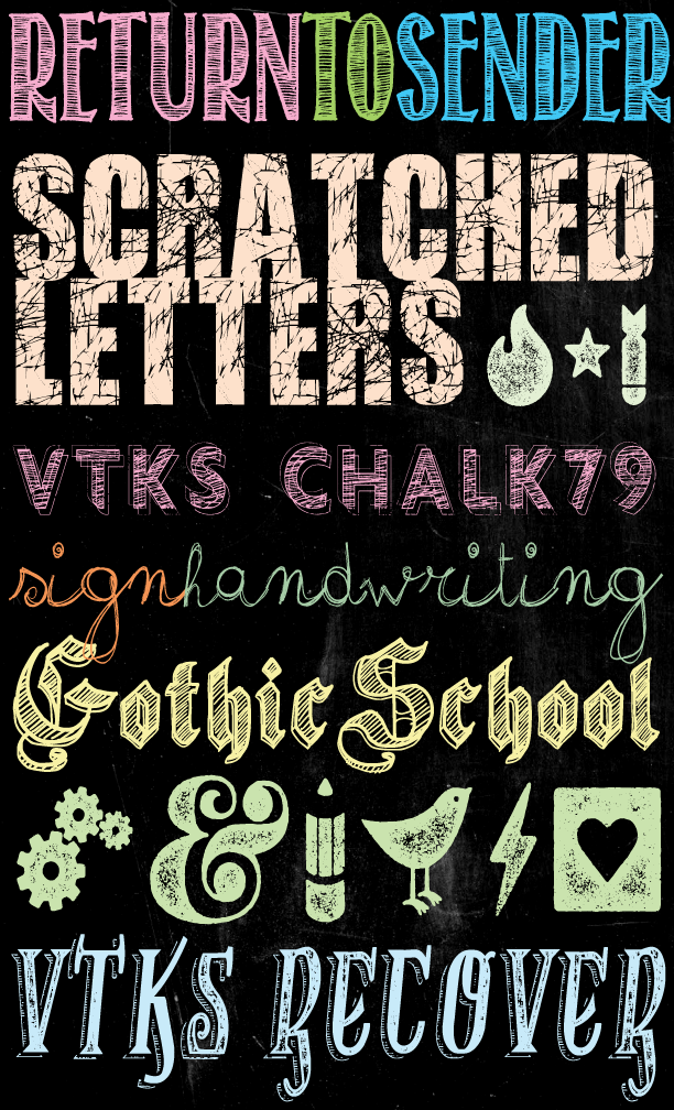 Free Chalkboard Fonts and Dingbats