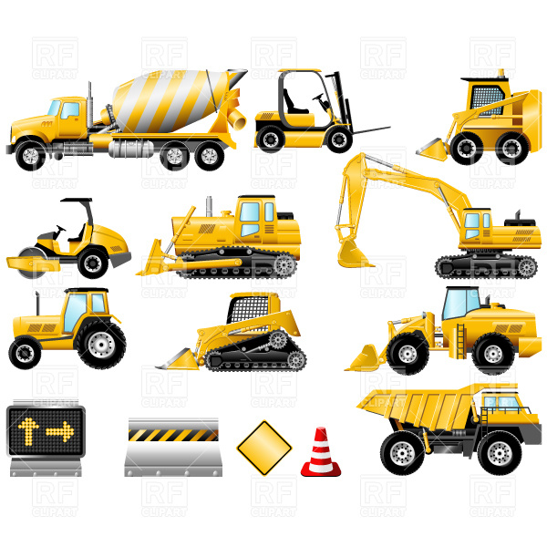 6 Construction Equipment Icons Images