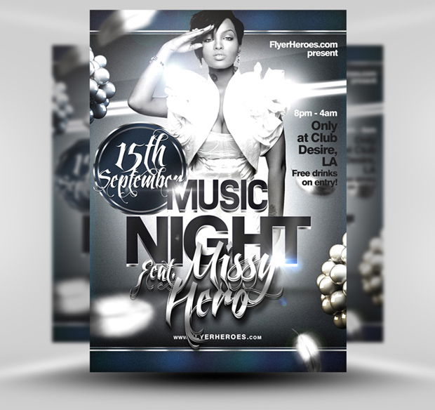 18 Free Psd Flyer Templates Music Images Free Club Flyer Design