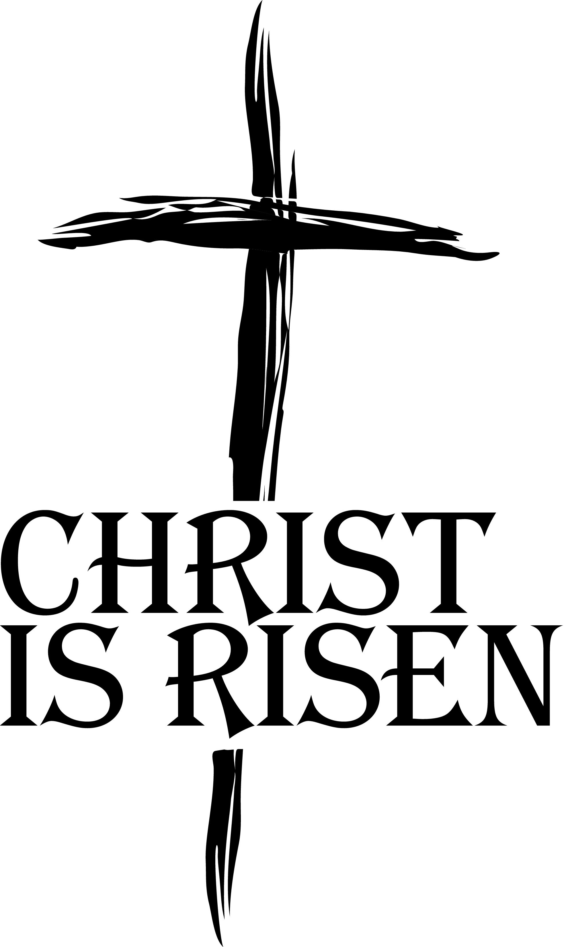 Free Easter Religious Christ Is Risen Clip Art