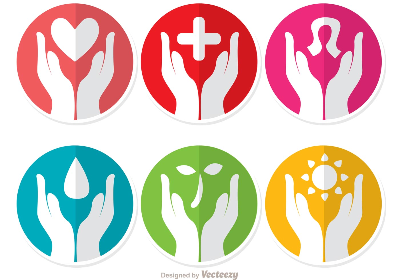 10 Helping Hands Vector Images