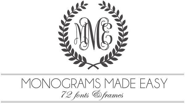 Free Letter Monogram Fonts Downloads