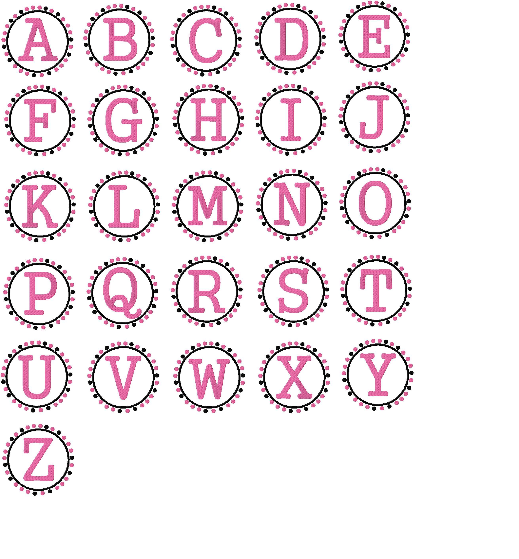 Free Monogram Alphabet Fonts