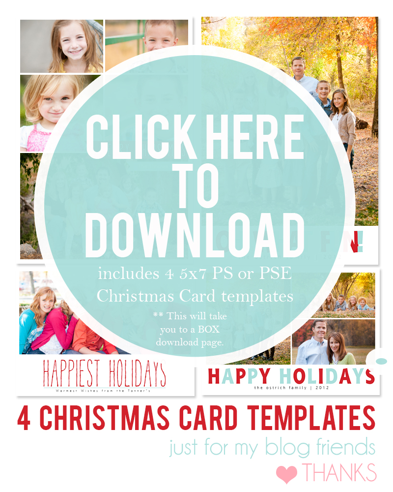 19 Christmas Card Photoshop Templates Free Images