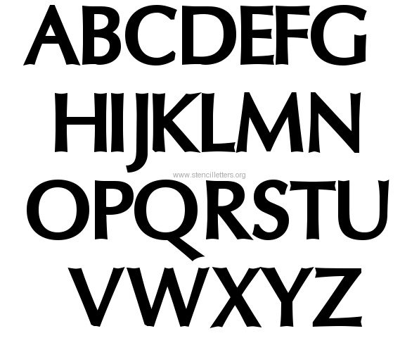 Free Printable Letter Stencils Font
