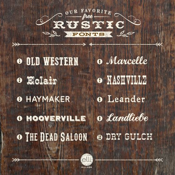 10 Rustic Word Fonts Images