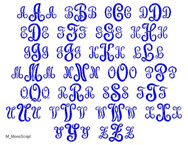 9 Free Monogram Fonts M Images