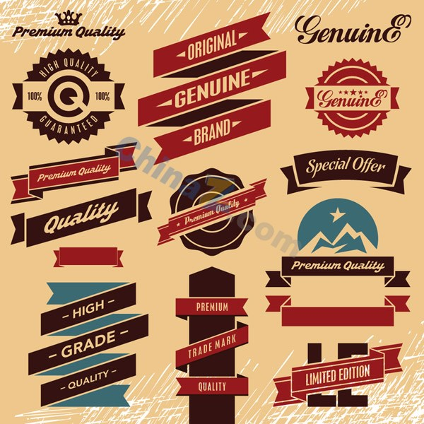 Free Vintage Vector Label Templates