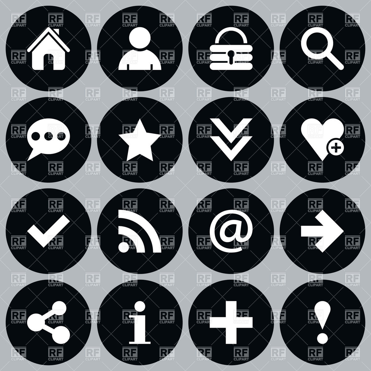 12 Simple Black Web Icons Images
