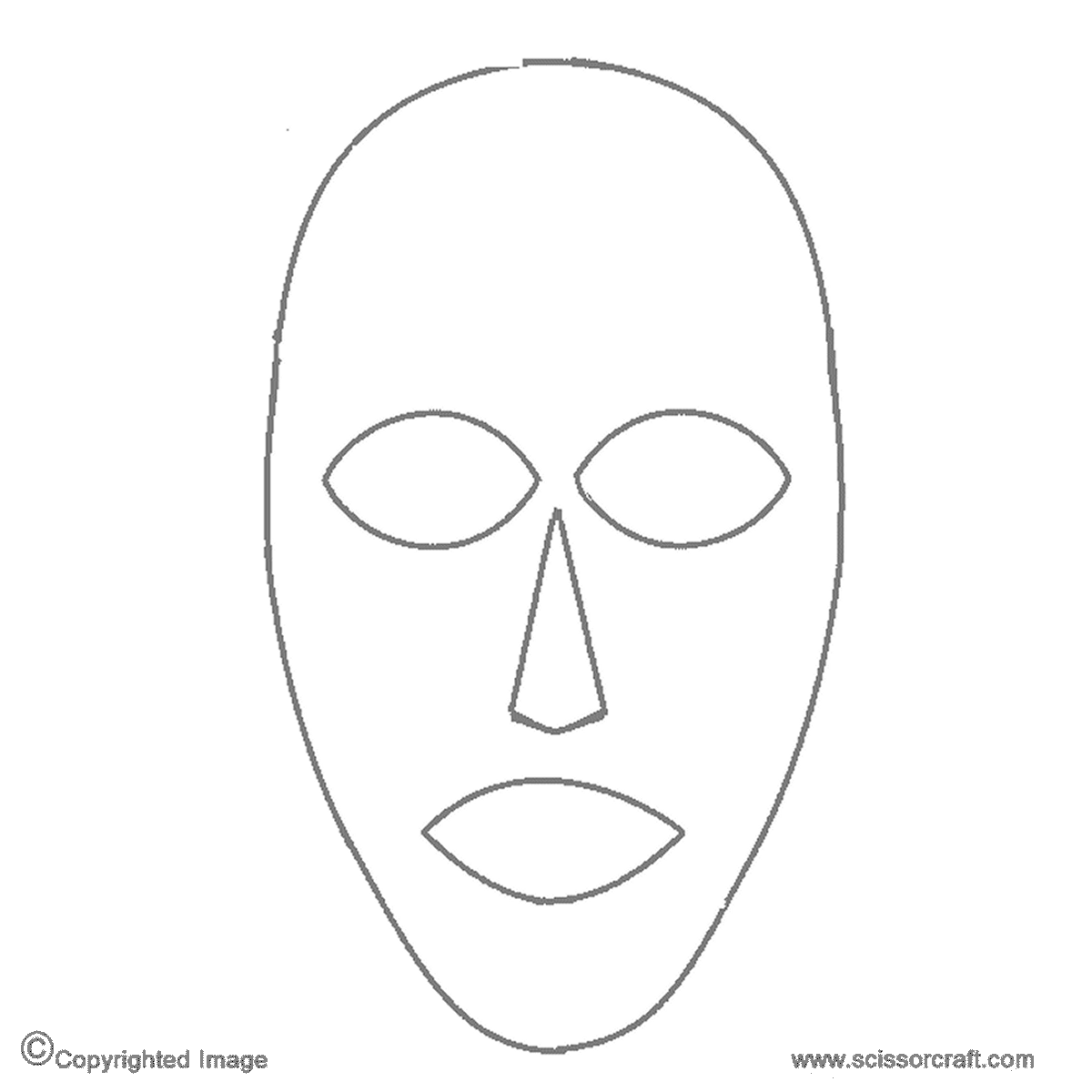 image relating to Printable Face referred to as 13 African Mask Template Photos - African Mask Coloring