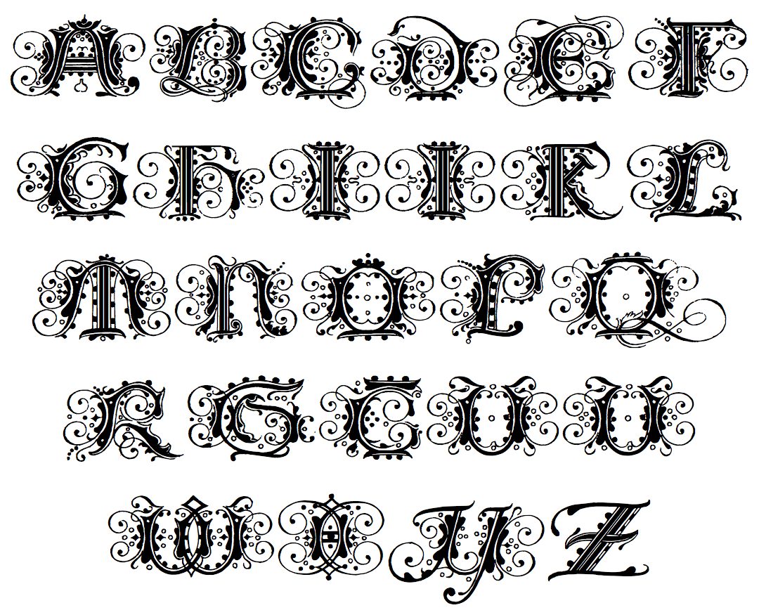 11 german font alphabet images old german alphabet for Template gothic font free