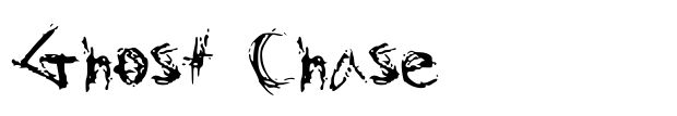 10 Ghost Chase Cursive Font Images