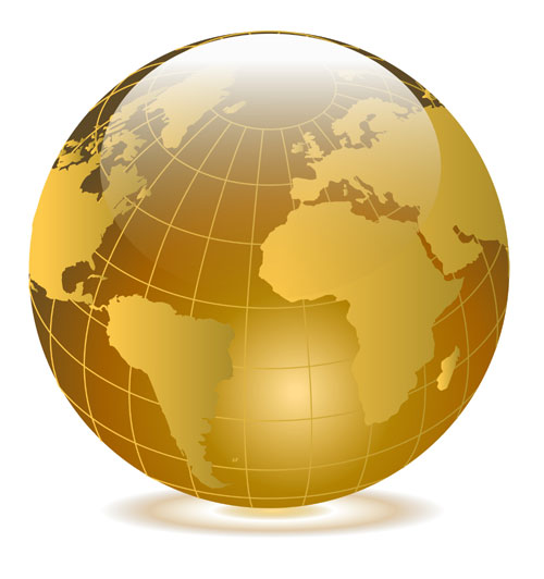 13 Gold Earth Vector Images