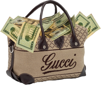 14 Gucci Money Bag PSD Images