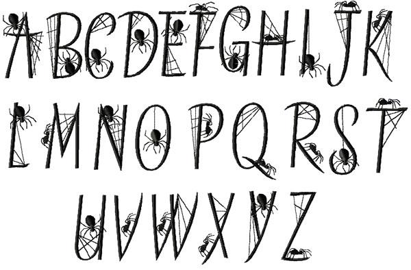 13 Spider Web Lettering Fonts Images