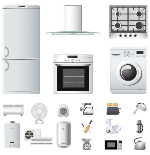 12 Microwave Icons Vector Images