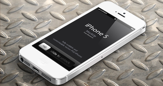 iPhone 5 Mockup Psd Free