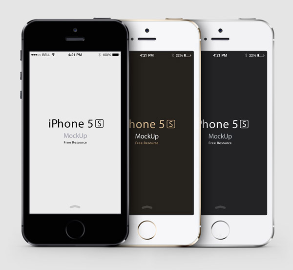 iPhone 5S Mockup Vector PSD