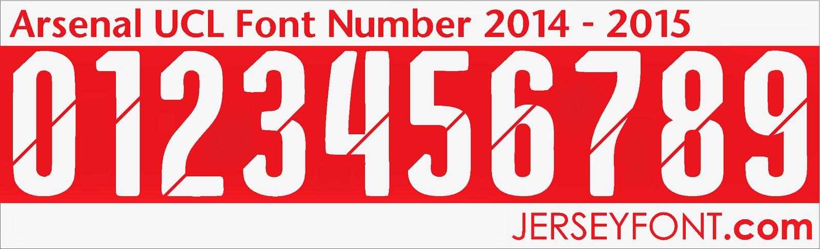 Jersey Number Font