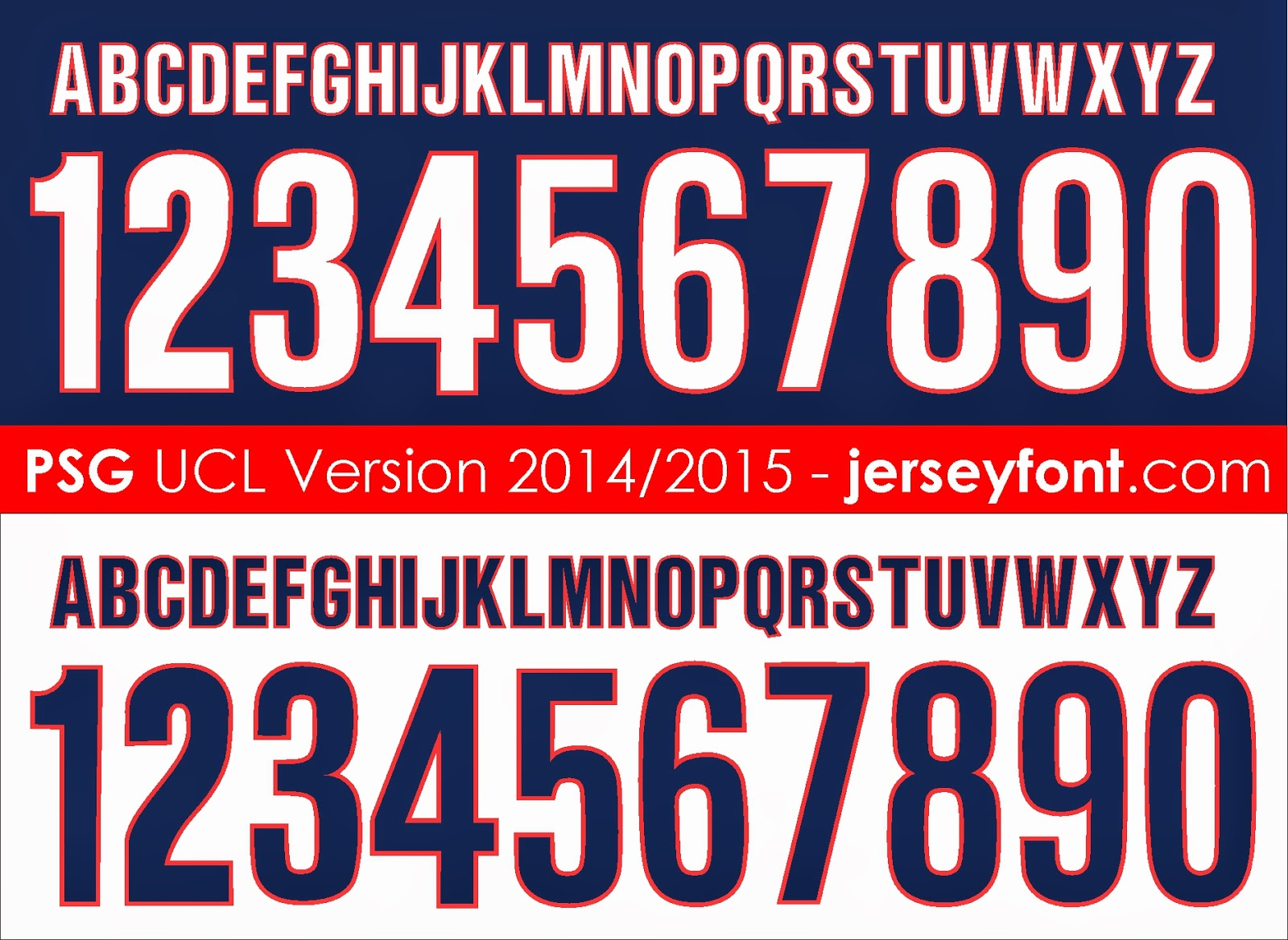 Jersey Number Fonts Free Download