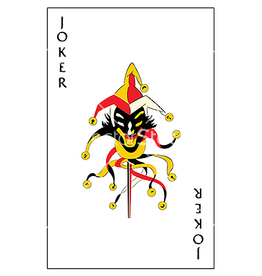 Joker Playing Card Vector