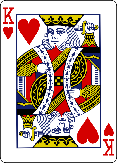 King Hearts Playing Card