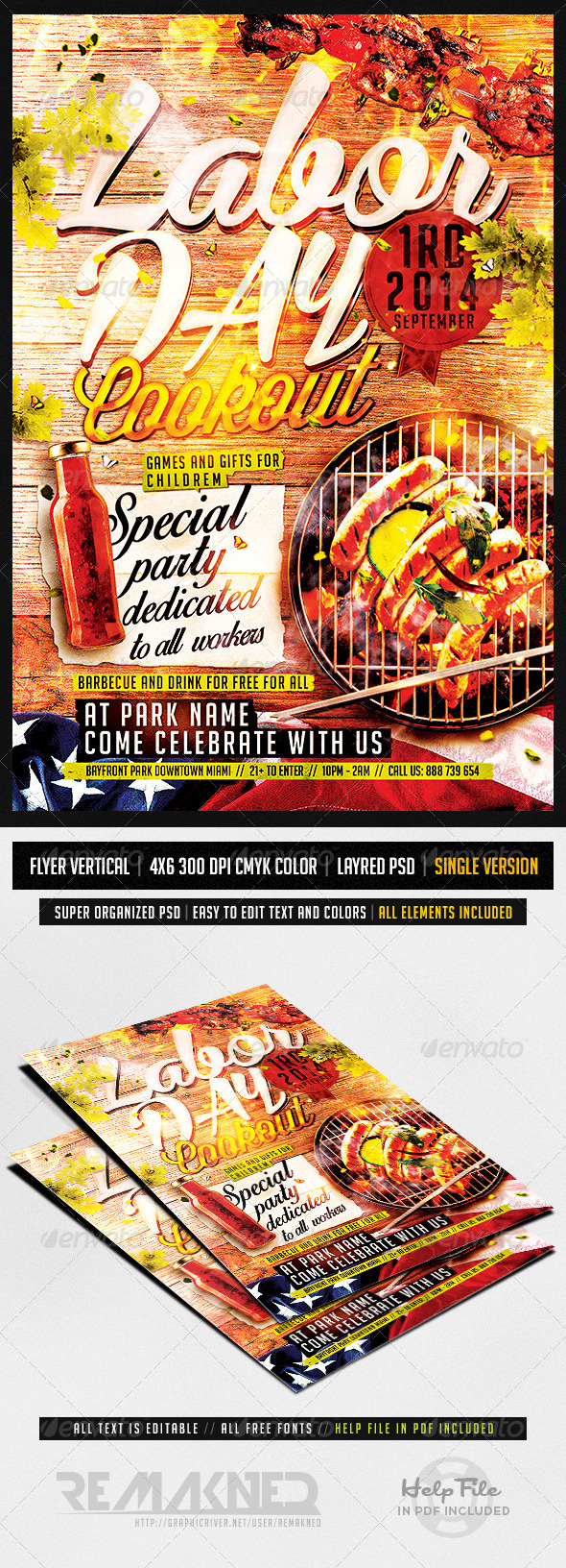 14 Cookout Flyer Template PSD Images - Cookout Flyer Template ...