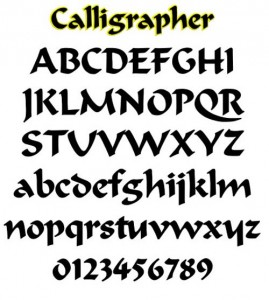 Large and Small Letters Alphabet Graffiti Fonts