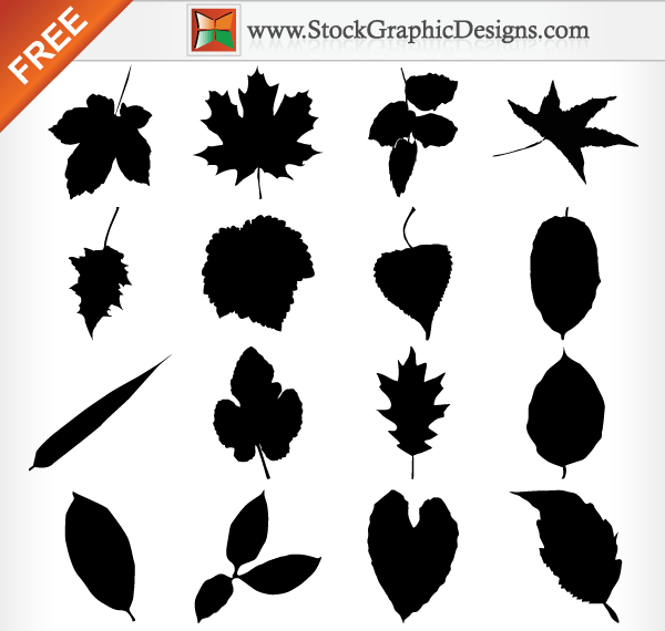 10 Leaves Silhouette Vector Free Images
