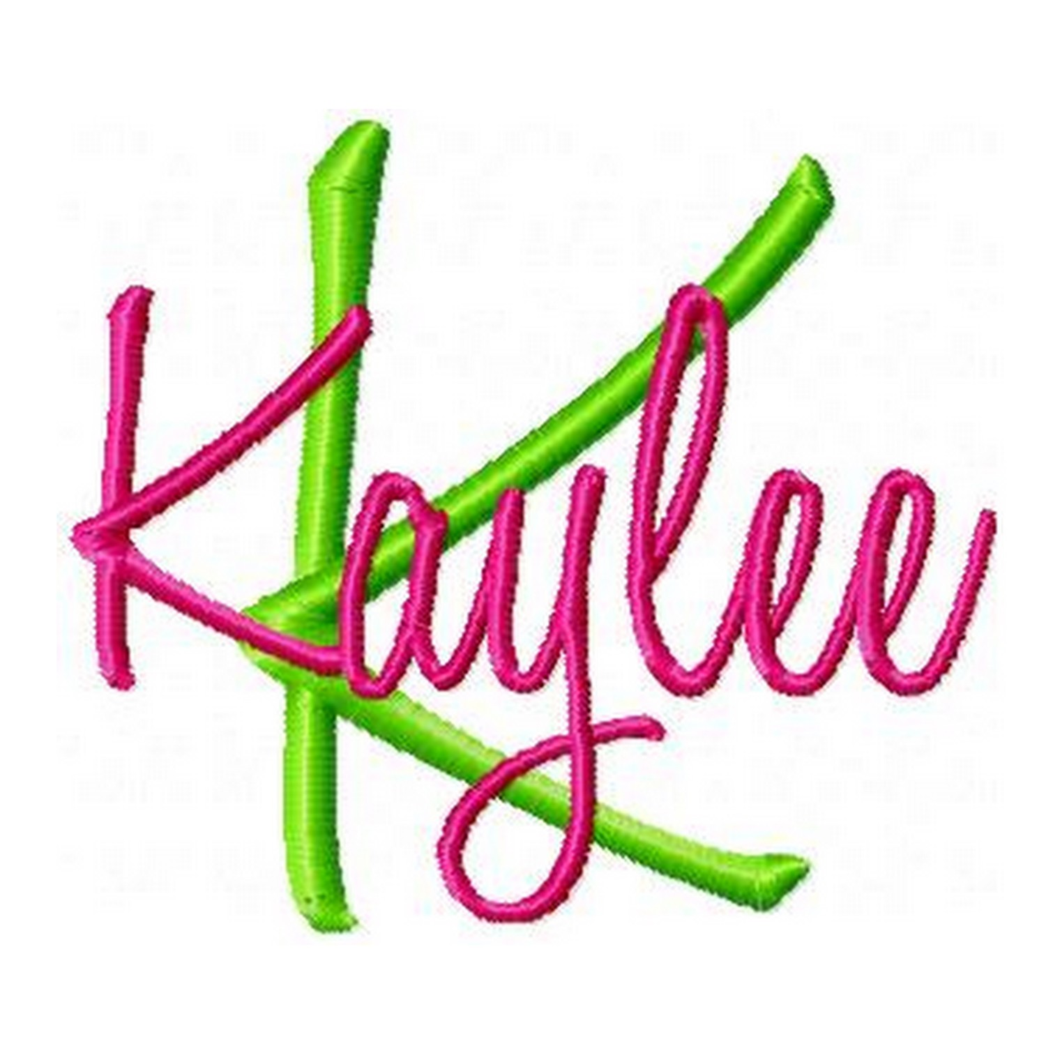 14 Kaylee Embroidery Font Images