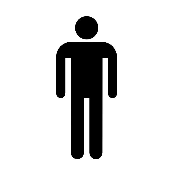Male Restrooms Signs Men Bathrooms