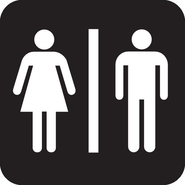 Men and Woman Bathroom Symbols