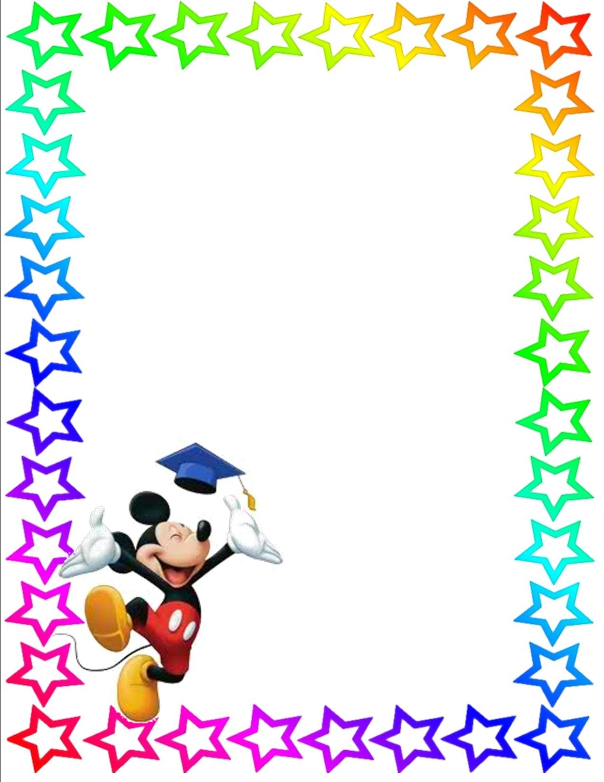 Mickey Mouse Clip Art Borders Free