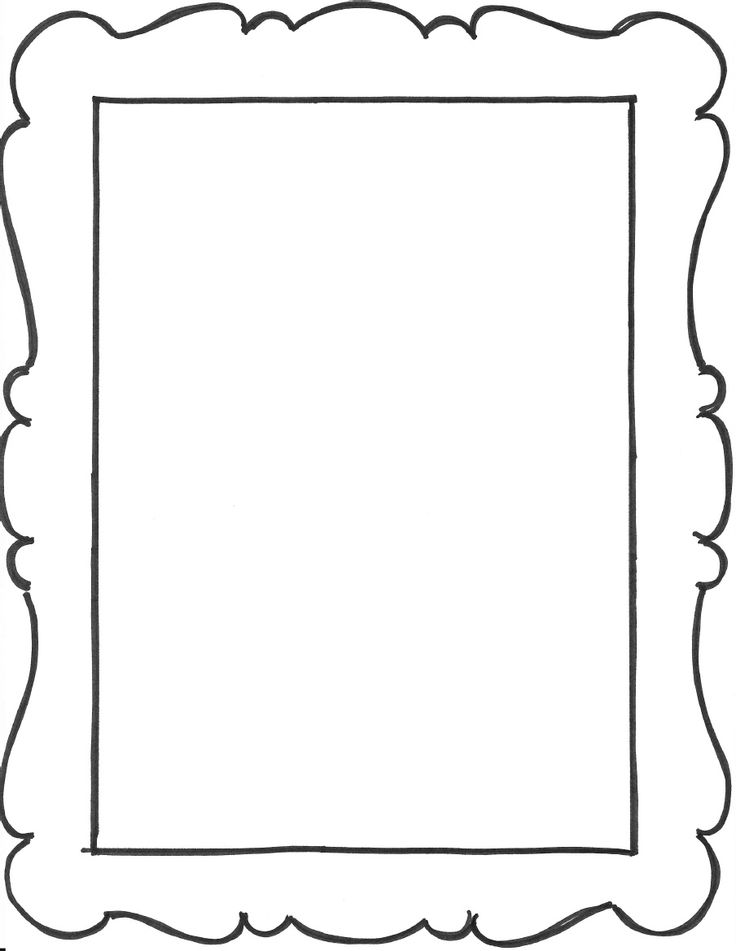 17 photo frame templates images gold frame templates for Mirror will template