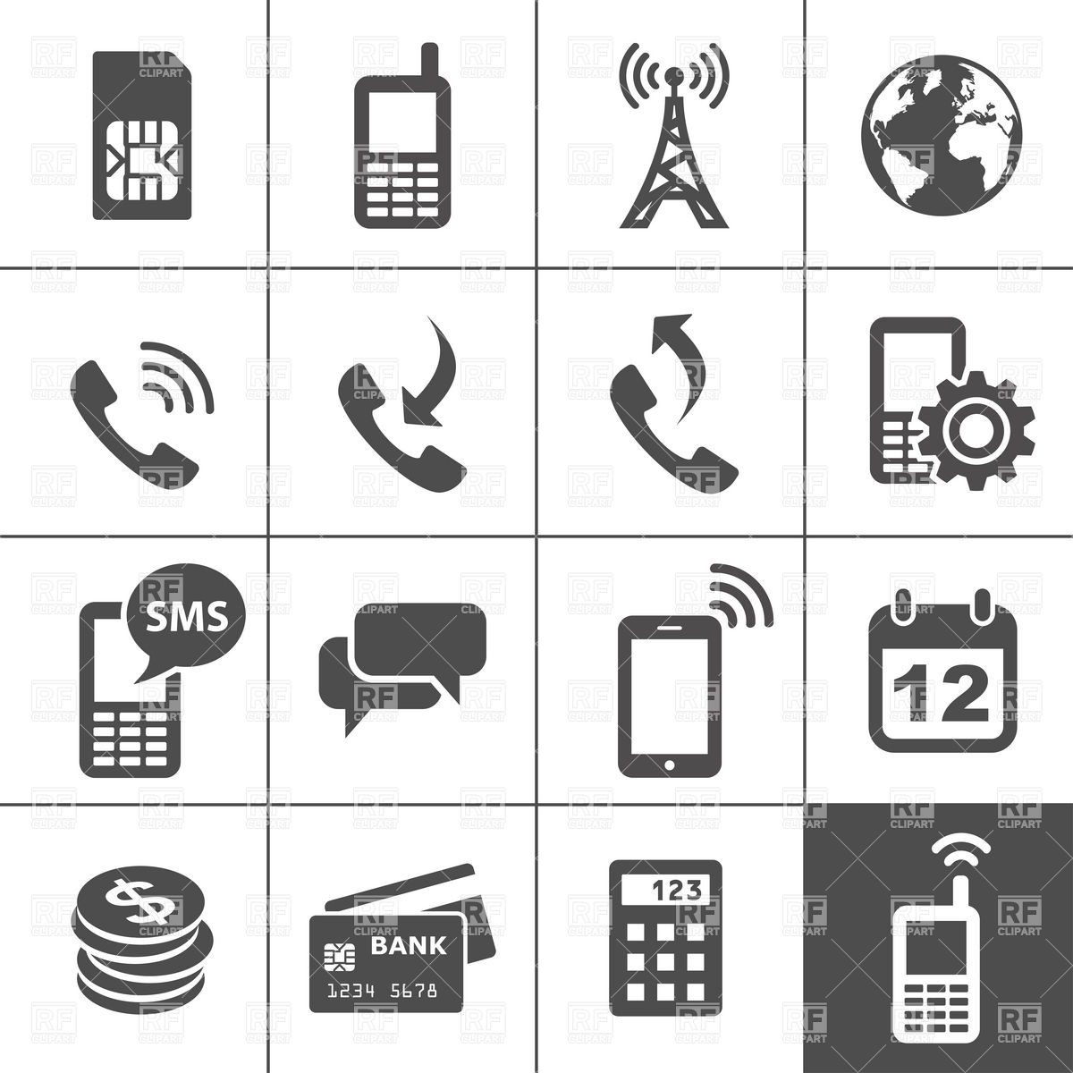 Mobile Icon Vector Free Download
