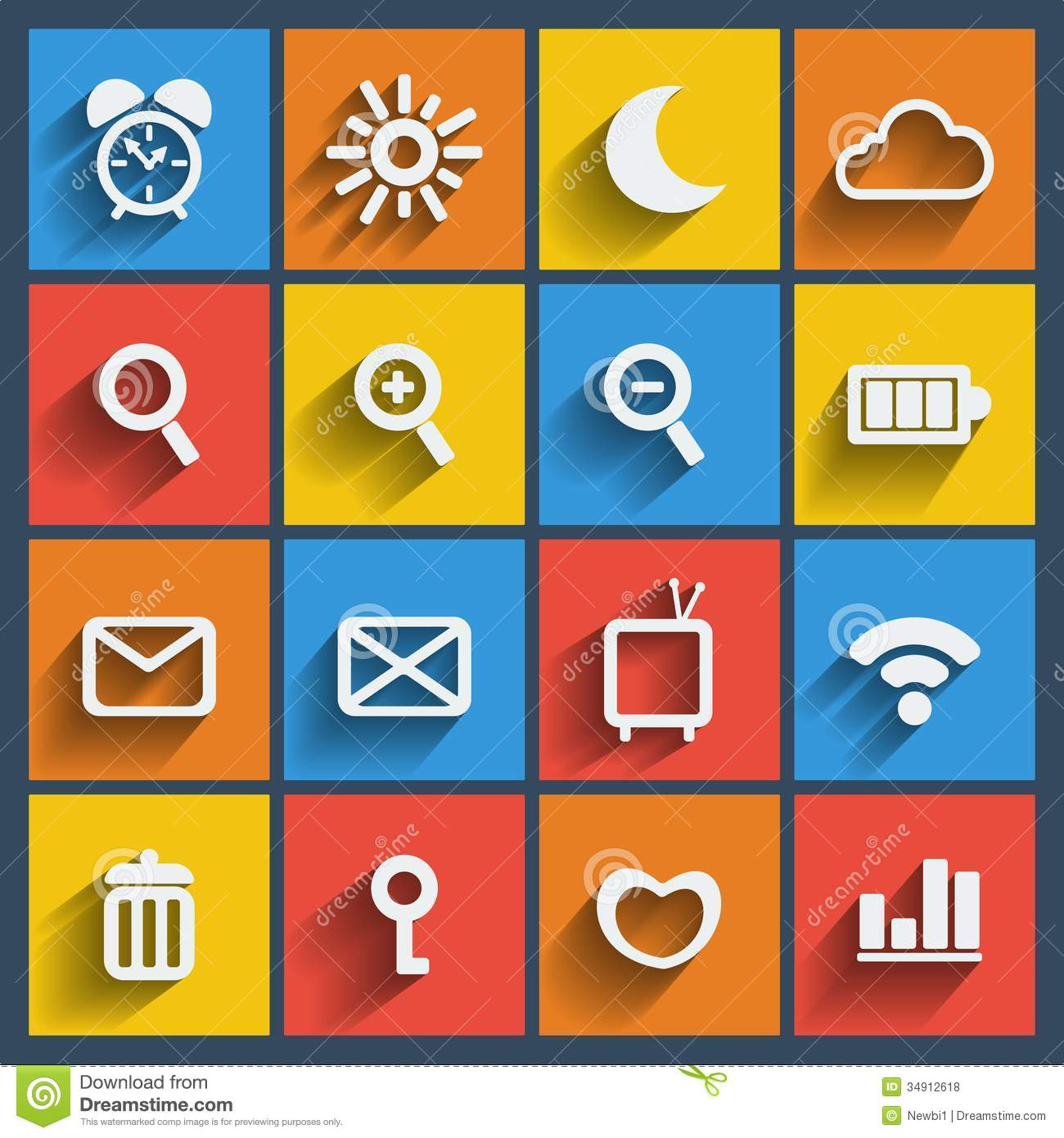 Mobile Icons Flat Vector