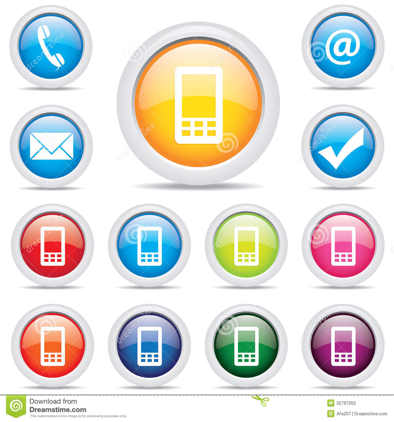 Mobile Icons Vector Download