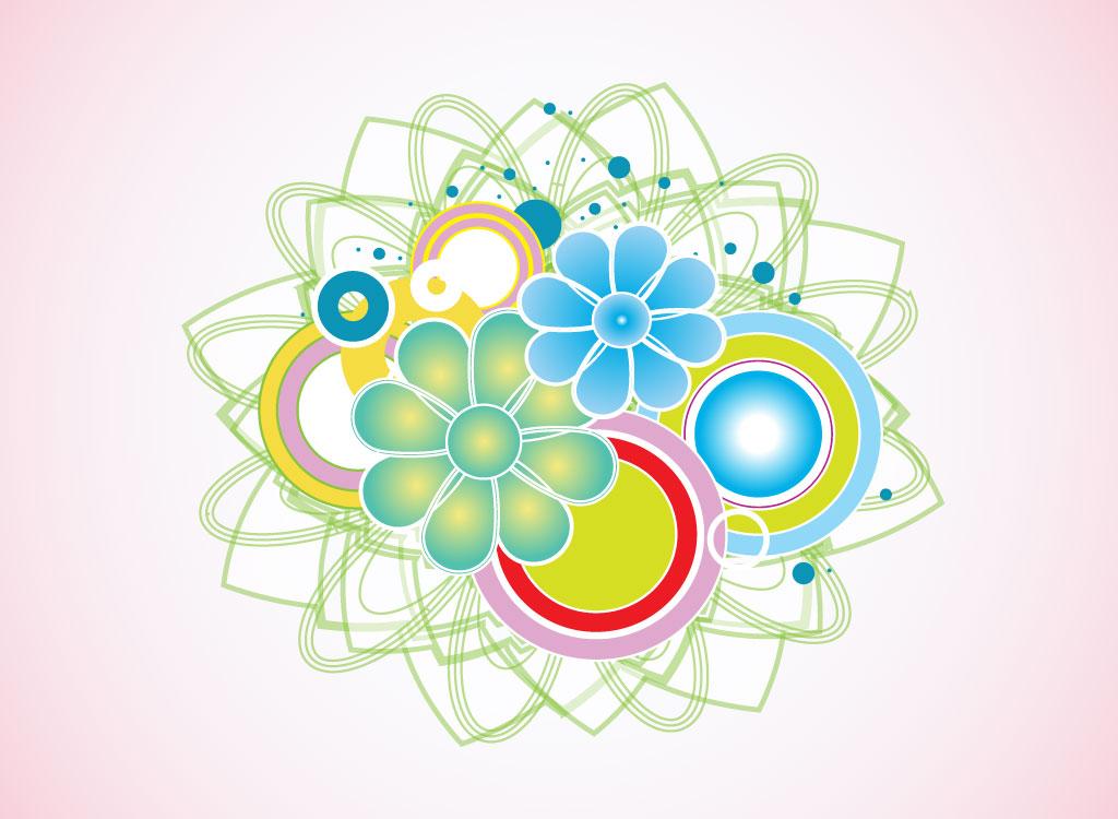 9 Modern Floral Vector Images