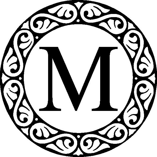 Monogram Decorative Circle Clip Art
