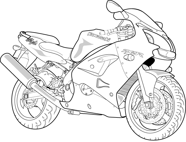 13 Vector Motorcycle Driver View Drawing Images Simple Drawing Outline