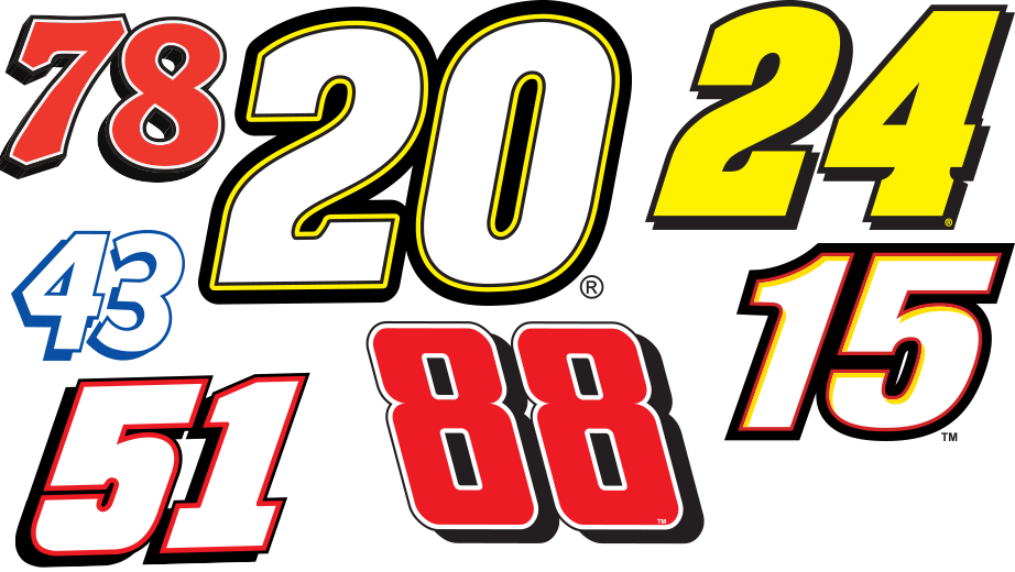 13 NASCAR Number Team Fonts Images - NASCAR Race Car ...