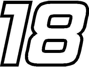 NASCAR Race Car Number Fonts